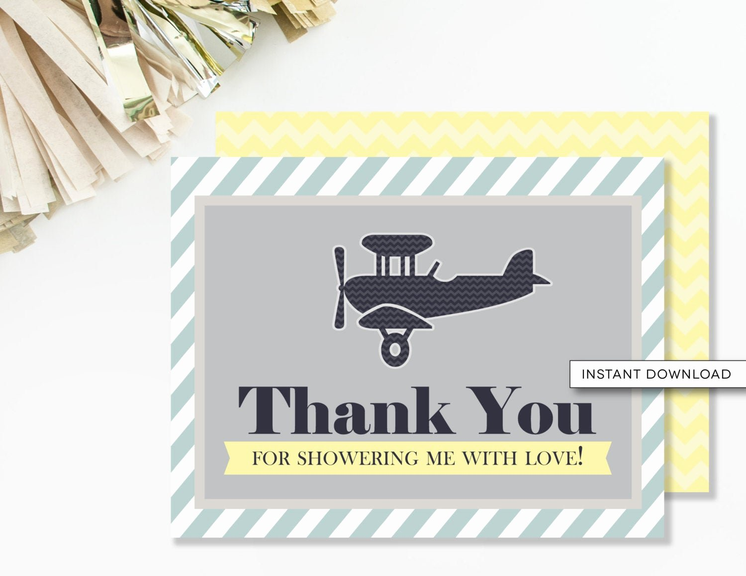 Travel themed Thank You Cards Inspirational Airplane Thank You Card Pilot Baby Shower Vintage Travel