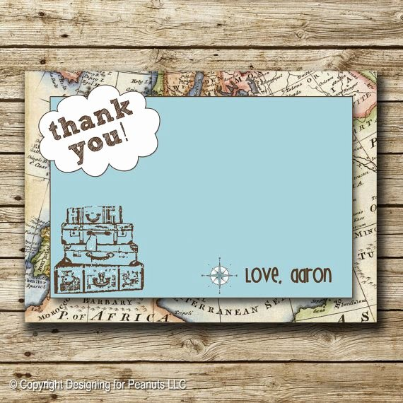 Travel themed Thank You Cards Luxury 17 Best Images About Travel theme Baby Shower On Pinterest