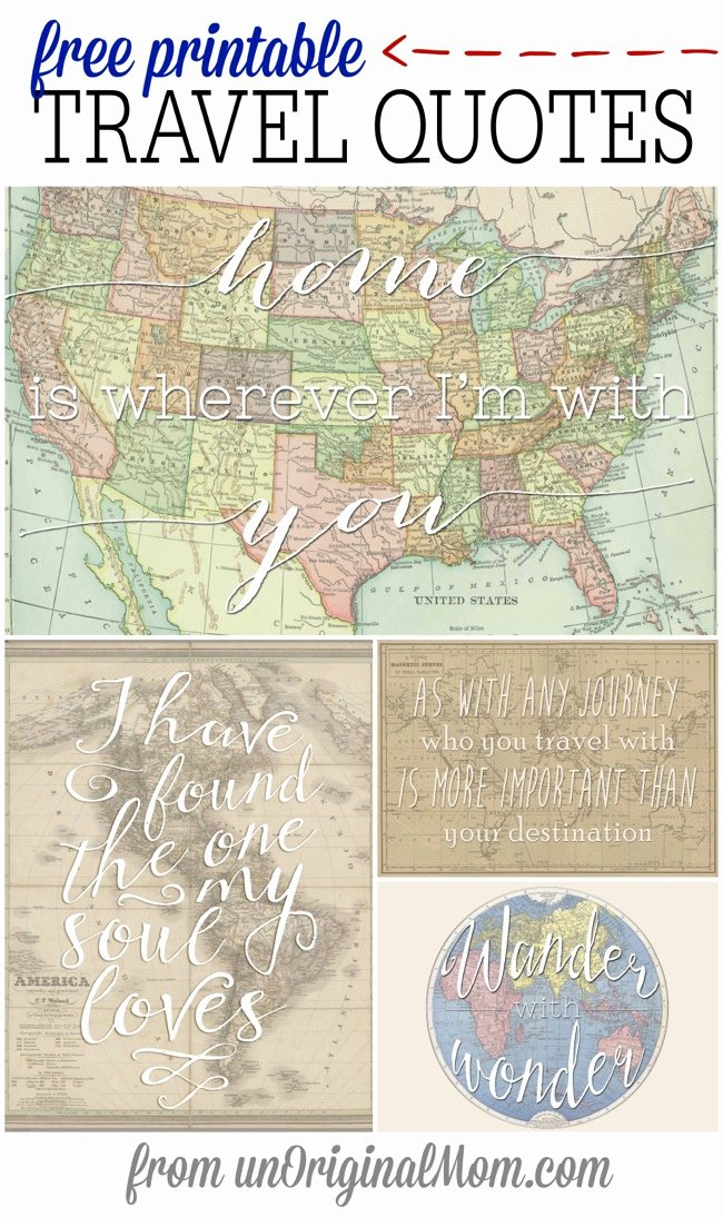 Travel themed Thank You Cards Luxury Free Printable Travel Quotes Unoriginal Mom