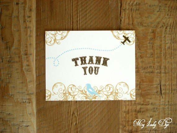Travel themed Thank You Cards Unique 100 Travel themed Thank You Note Cards Airplane atlas Map Rustic Cute Whimsical the Miriam