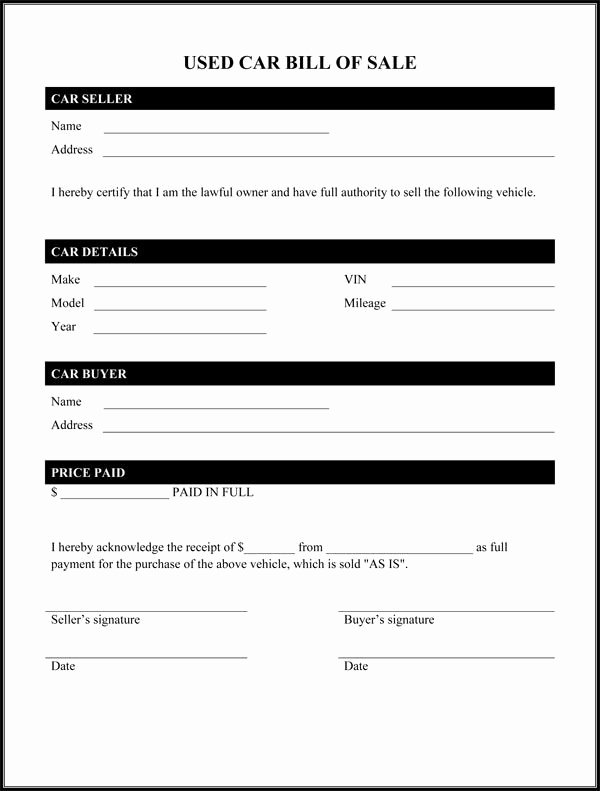 Travel Trailer Bill Of Sale Awesome Printable Sample Car Bill Of Sale form Laywers Template forms Line