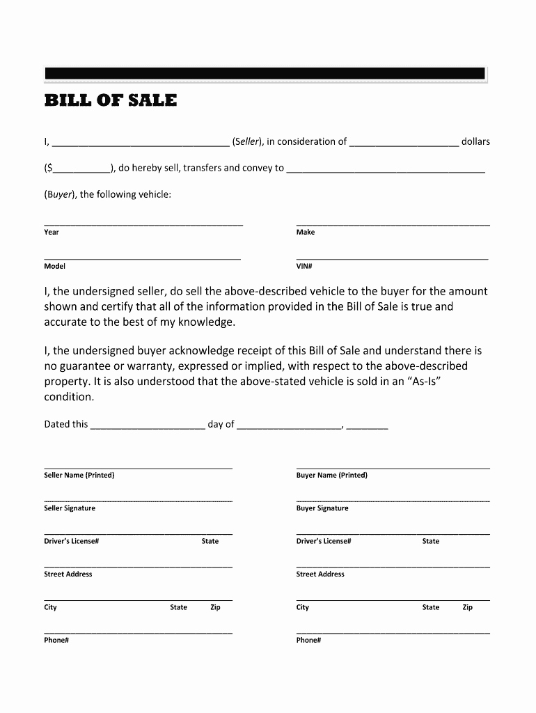 Travel Trailer Bill Of Sale New Rv Bill Sale Fill Line Printable Fillable Blank