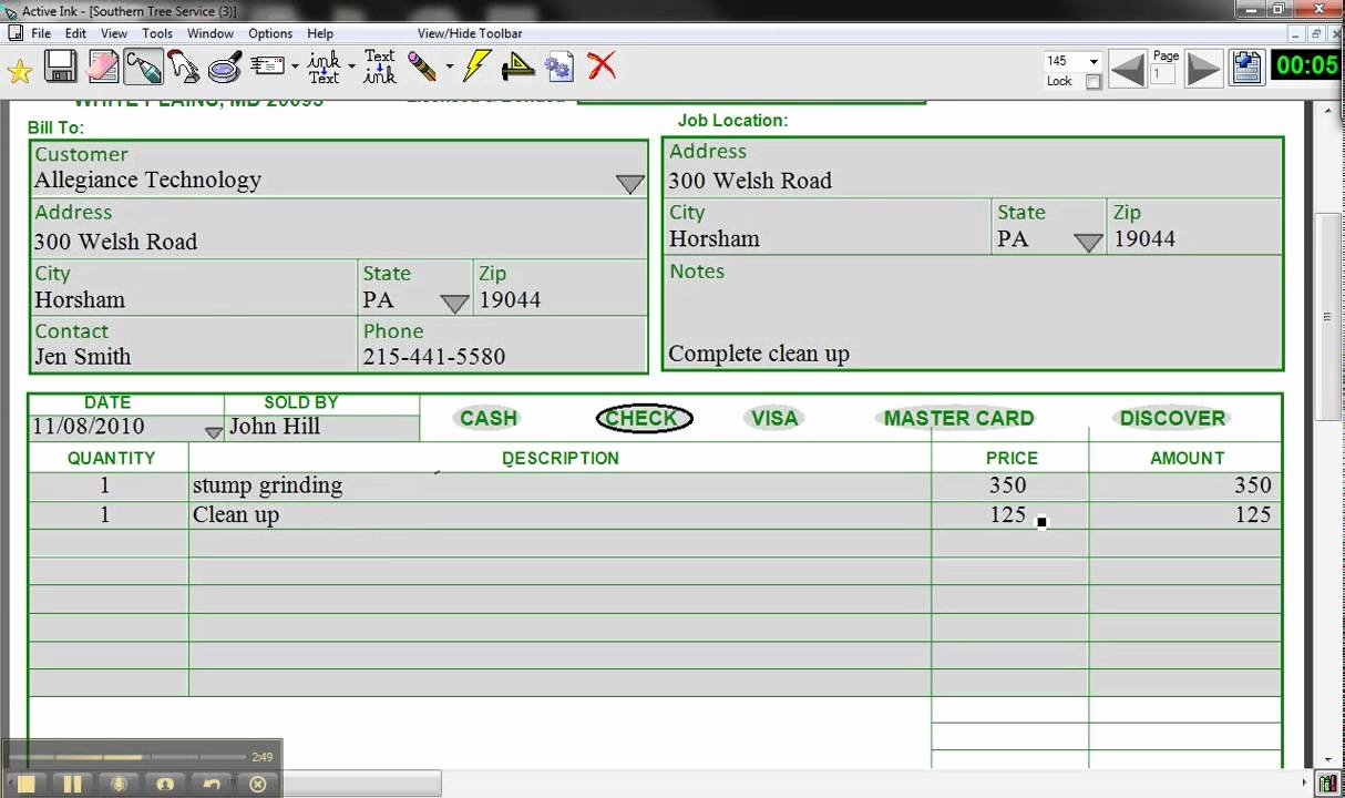 Tree Service Estimate Template Fresh Active Ink form by Allegiance Technology southern Tree
