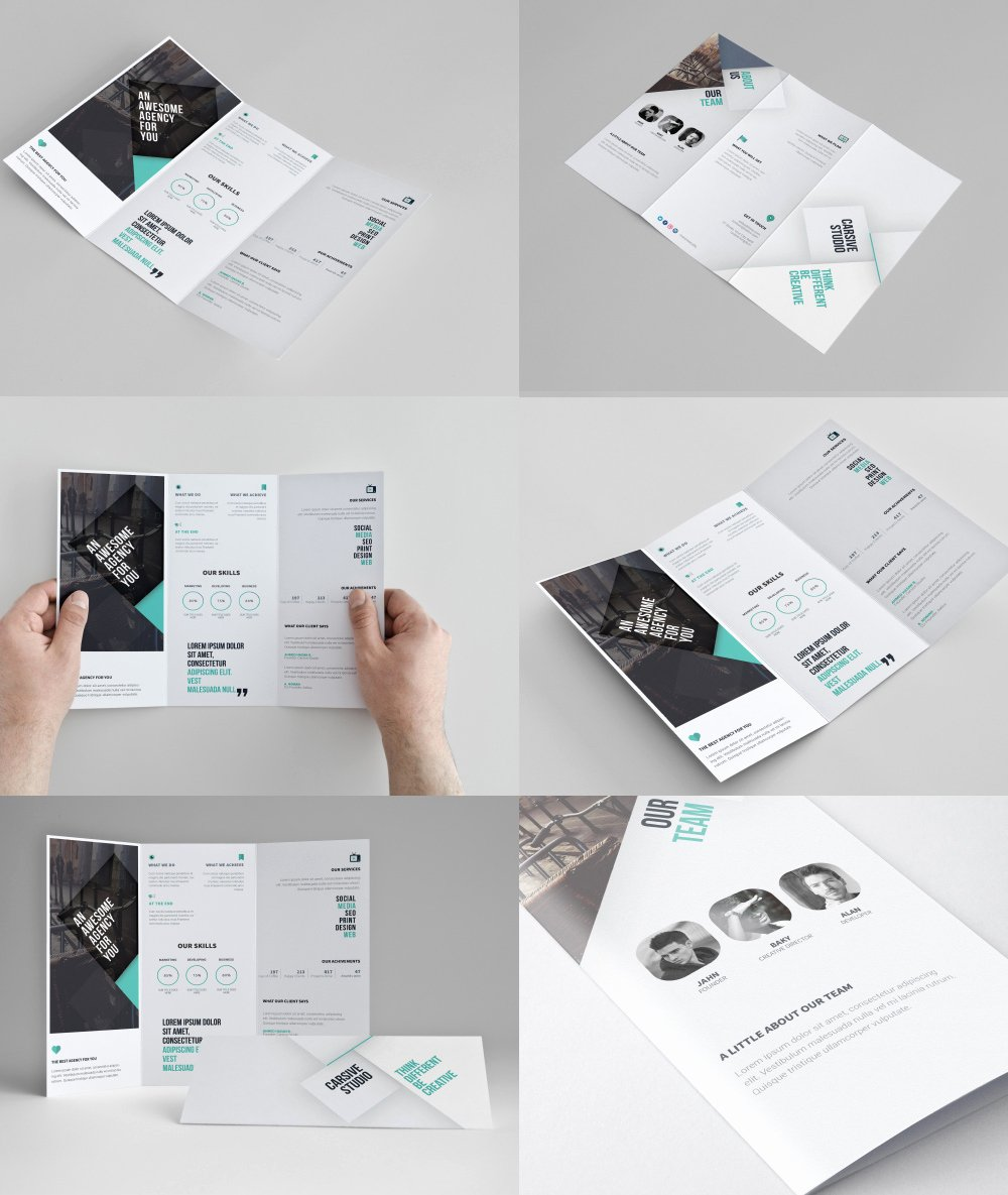 Tri Fold Brochure Psd Template Luxury Corporate Tri Fold Brochure Template Free Psd Download Psd