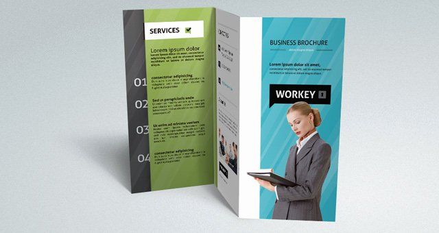 Tri Fold Brochure Psd Template New Corporate Tri Fold Brochure Template Brochure Templates