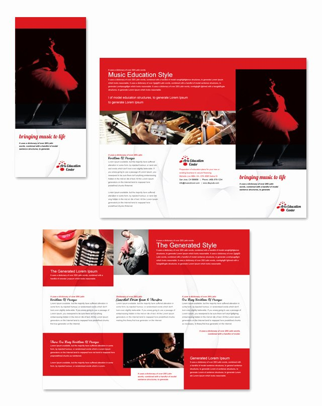 Tri Fold Brochure Template Illustrator Lovely Arts Education Center Tri Fold Brochure Template