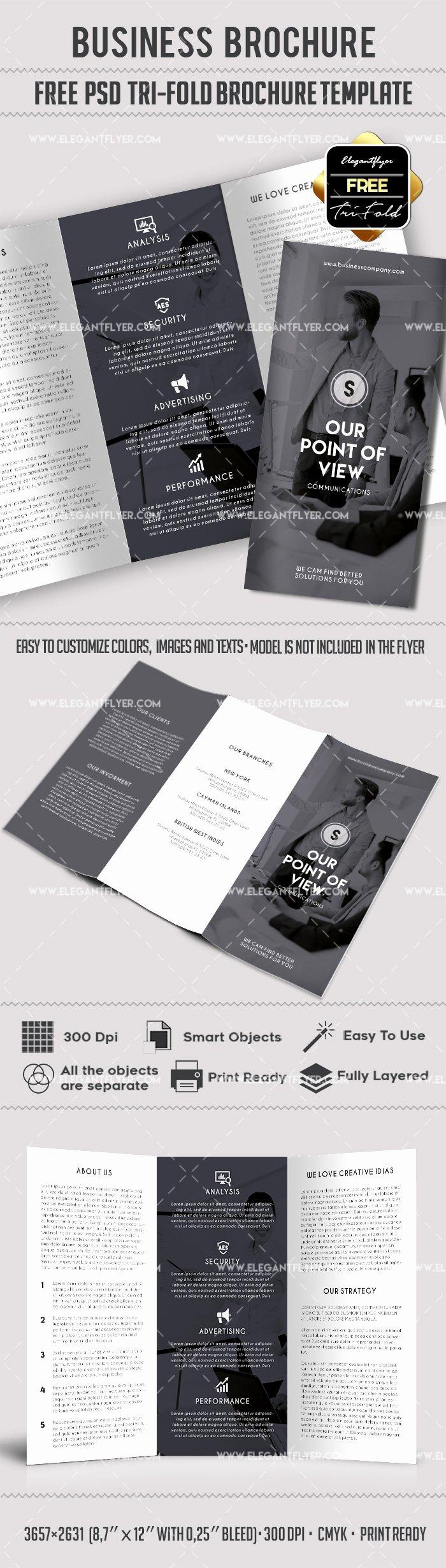 Tri Fold Brochure Template Psd Beautiful Business – Free Psd Tri Fold Psd Brochure Template – by Elegantflyer