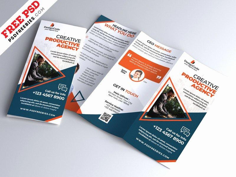 Tri Fold Brochure Template Psd Best Of Corporate Tri Fold Brochure Template Psd Download Psd