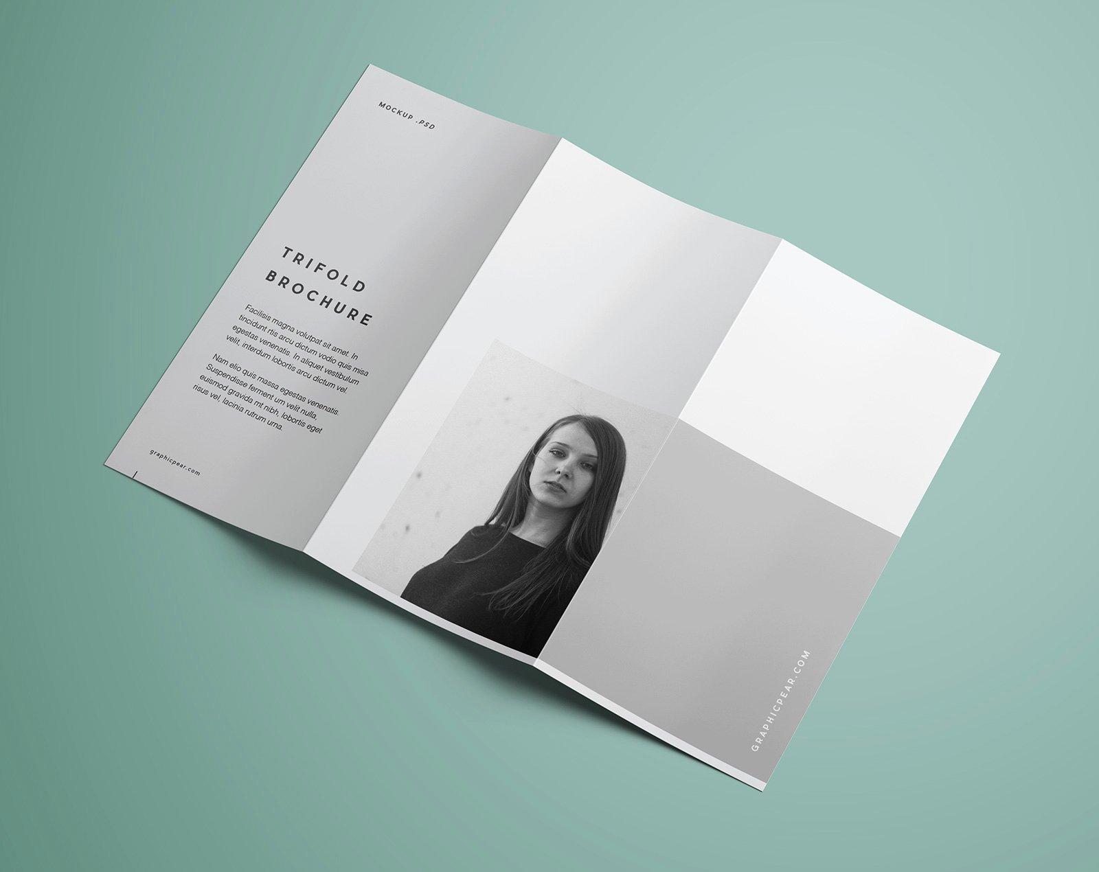 Tri Fold Brochure Template Psd Elegant Free Premium Tri Fold Brochure Mockup Psd Good Mockups