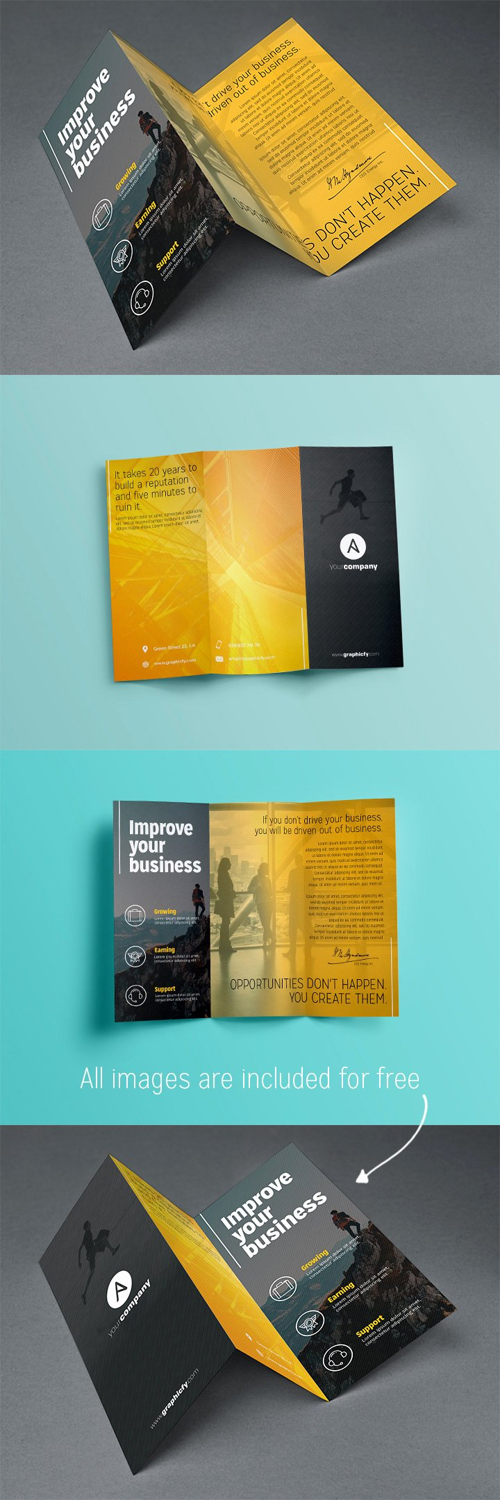 Tri Fold Brochure Template Psd Elegant Tri Fold Brochure Template Psd Brochure Templates Graphicfy