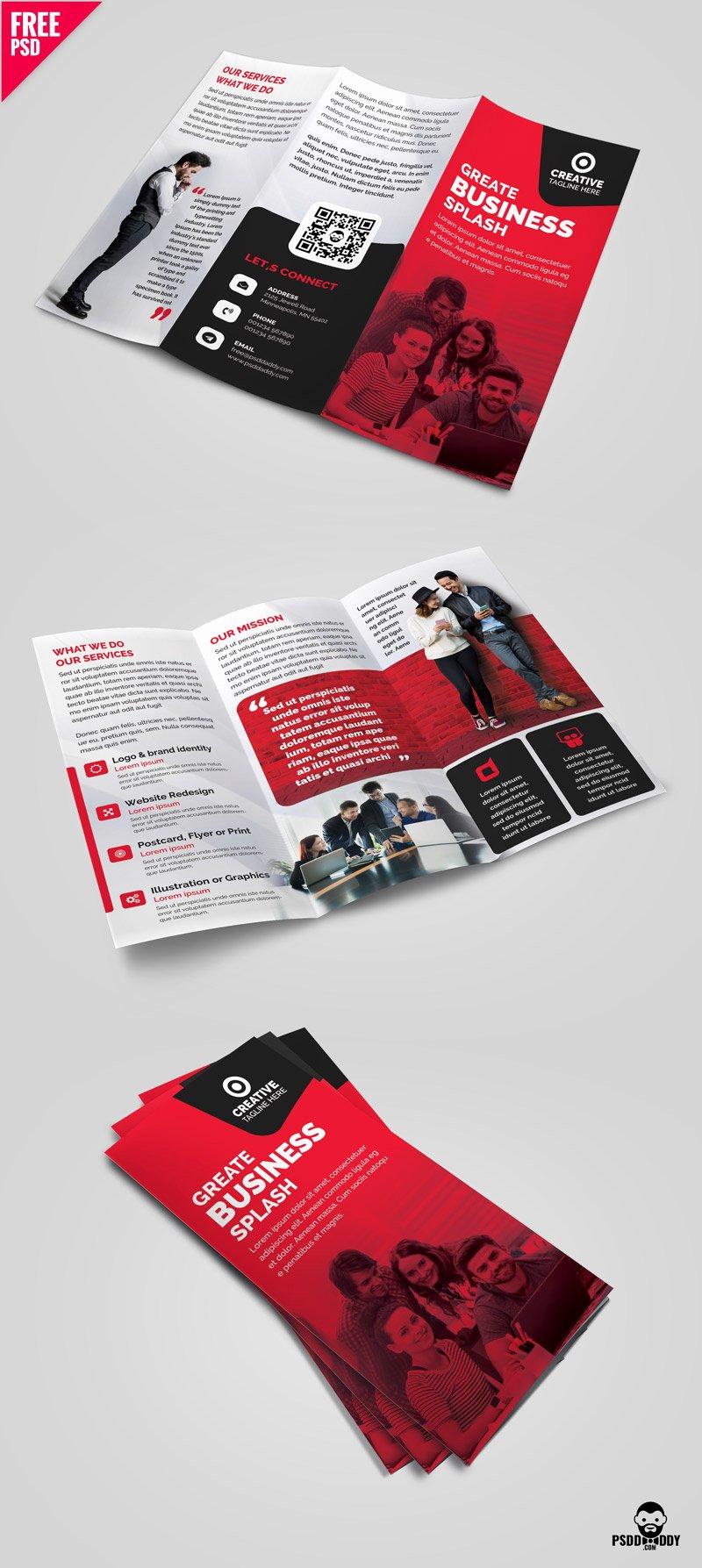 Tri Fold Brochure Template Psd Fresh Business Tri Fold Brochure Template Design Psd