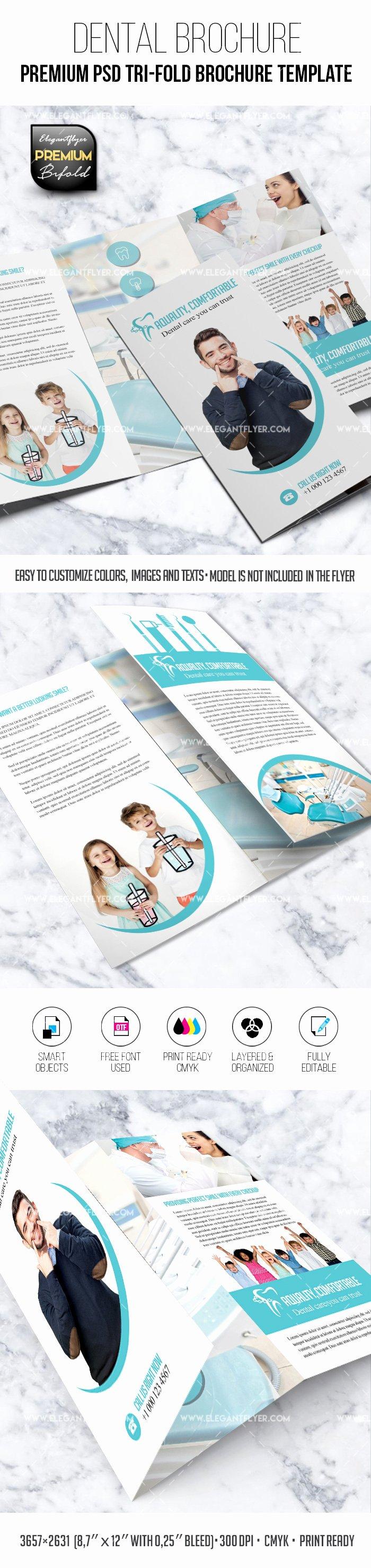 Tri Fold Brochure Template Psd Fresh Dental – Tri Fold Brochure Psd Template – by Elegantflyer