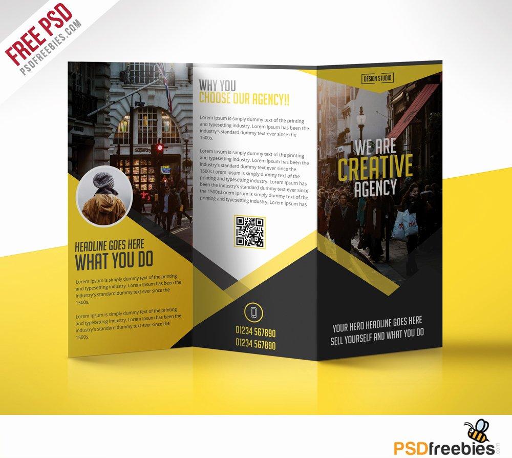 Tri Fold Brochure Template Psd Fresh Multipurpose Trifold Business Brochure Free Psd Template