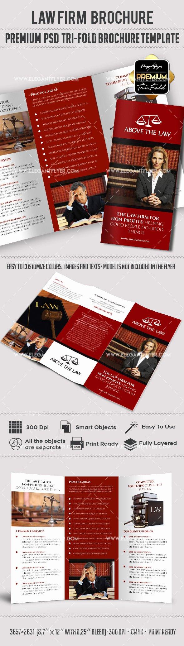 Tri Fold Brochure Template Psd New Law Pany – Premium Tri Fold Psd Brochure Template – by Elegantflyer