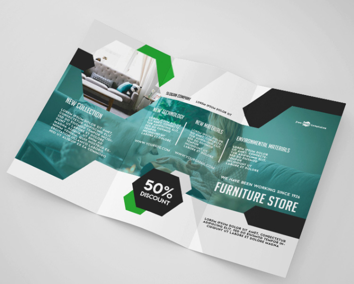 Tri Fold Brochure Template Psd Unique Furniture Store Tri Fold Brochure Mockup Psd Template Mockup Free Downloads