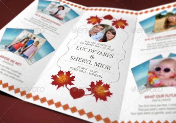 Tri Fold Invitation Template Awesome 19 Trifold Wedding Invitation Templates – Free Sample