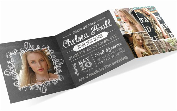 Tri Fold Invitation Template Awesome 7 Graduation Invitations Psd Ai