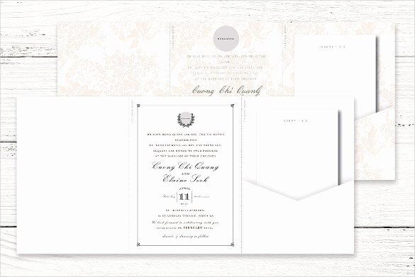 Tri Fold Invitation Template Awesome Folding Invitation Cards