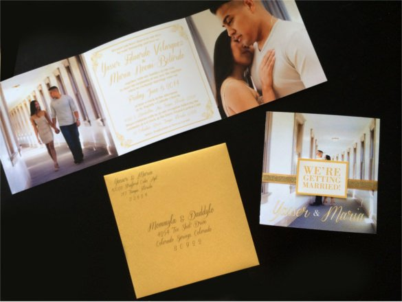 Tri Fold Invitation Template Beautiful 19 Trifold Wedding Invitation Templates – Free Sample