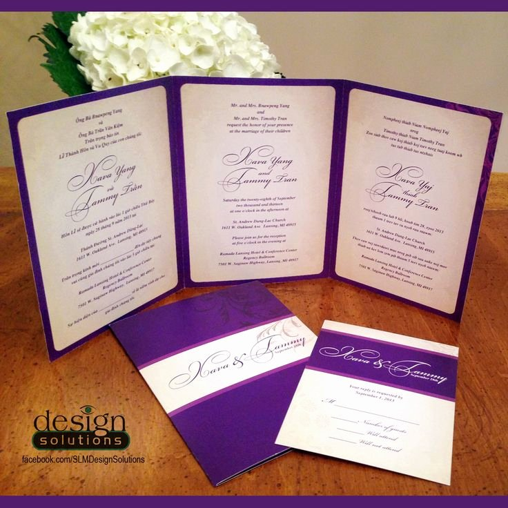 Tri Fold Invitation Template New Tri Fold Wedding Invitations Template
