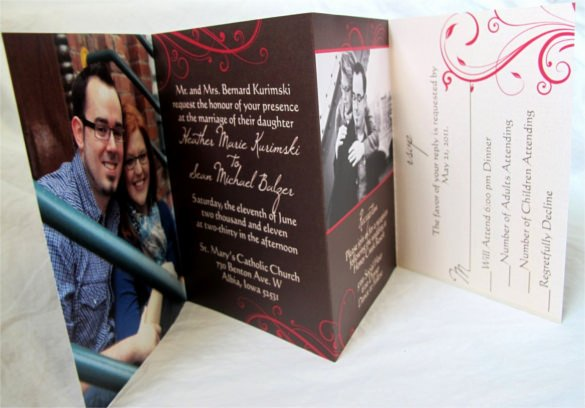 Tri Fold Invitation Template Unique 19 Trifold Wedding Invitation Templates – Free Sample