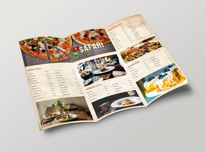 Tri Fold Menu Template Awesome 50 Free Psd Restaurant Flyer Menu Templates