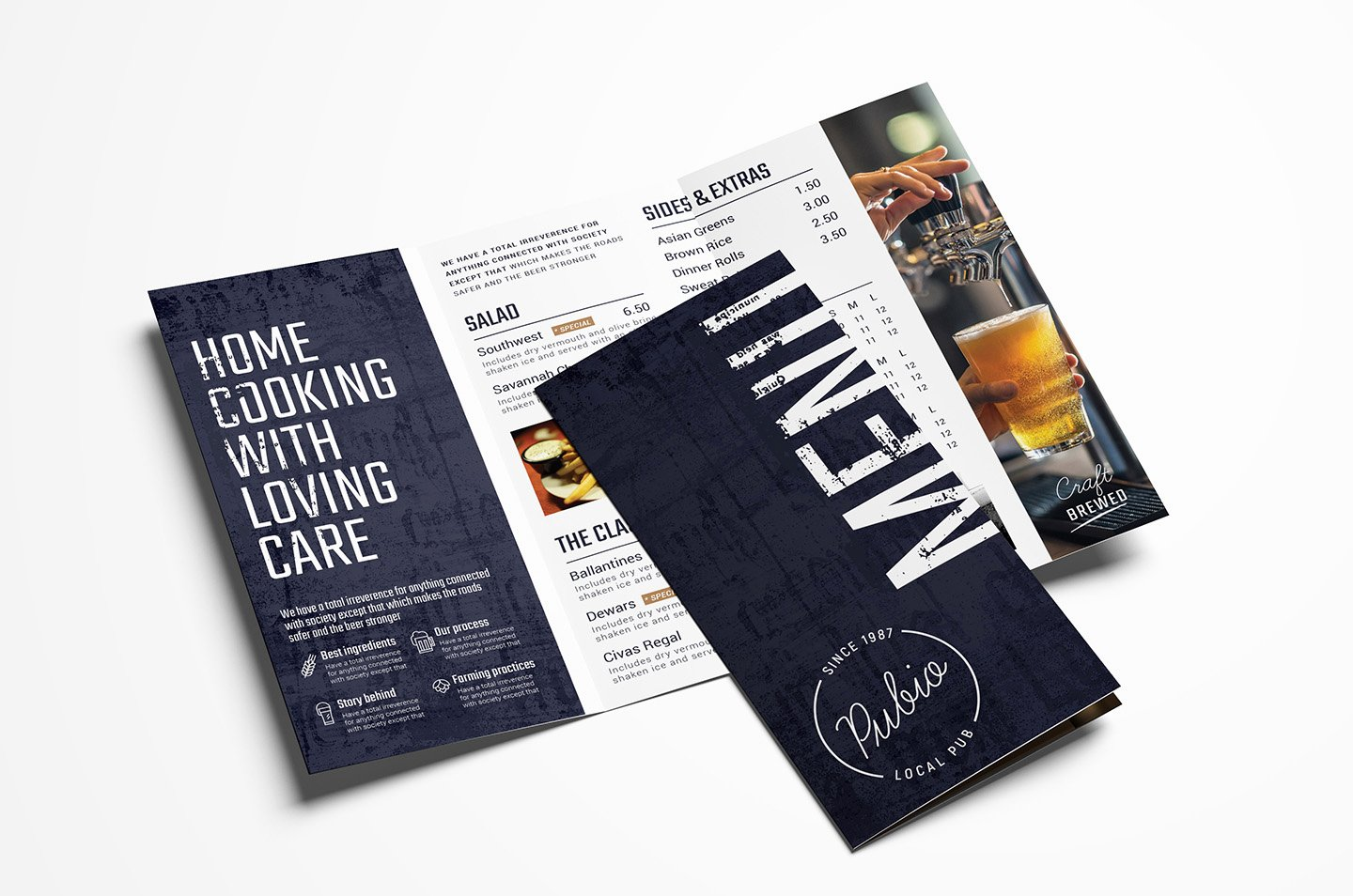 Tri Fold Menu Template Best Of Bar Tri Fold Menu Template Psd Ai & Vector Brandpacks
