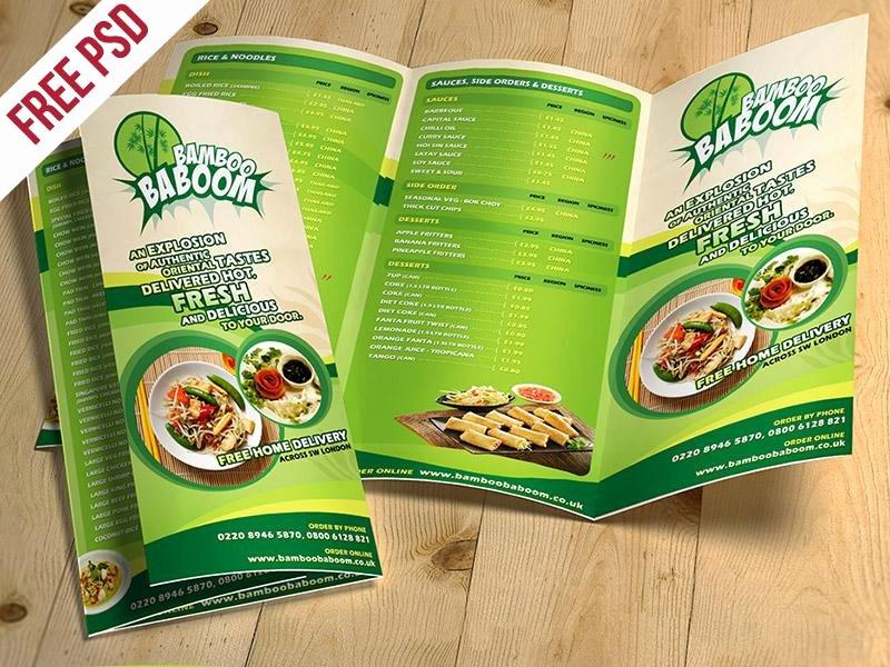 Tri Fold Menu Template Fresh 20 Awesome Free Brochure Templates Mockups