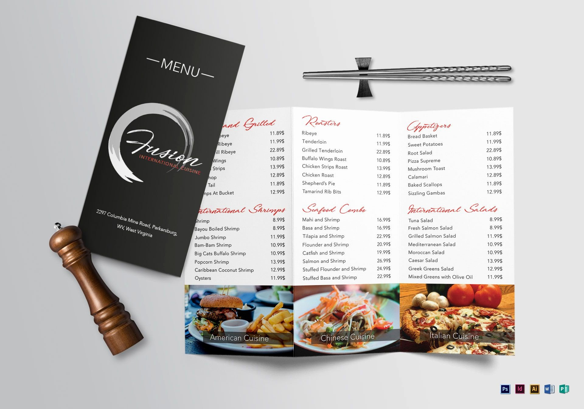 Tri Fold Menu Template Lovely Cuisine Tri Fold Menu Design Template In Psd Word Publisher Illustrator Indesign