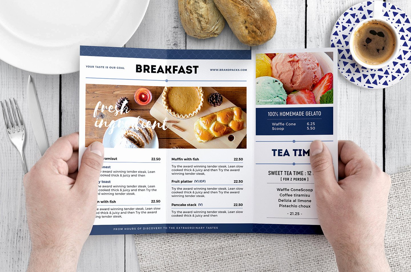 Tri Fold Menu Template Lovely Tri Fold Brunch Menu Template In Psd Ai & Vector Brandpacks