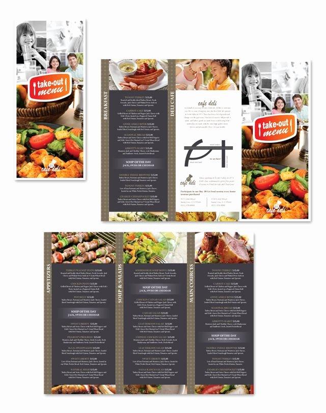 Tri Fold Menu Template Unique New Cafe Deli Take Out Tri Fold Menu Template Graphic Design Pinterest