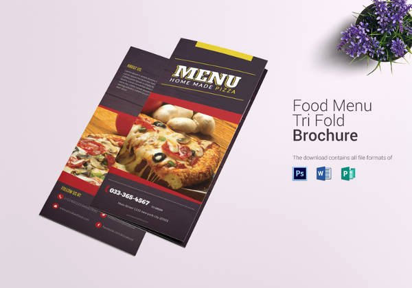 Tri Fold Menu Template Unique Pizza Menu Templates – 31 Free Psd Eps Documents Download