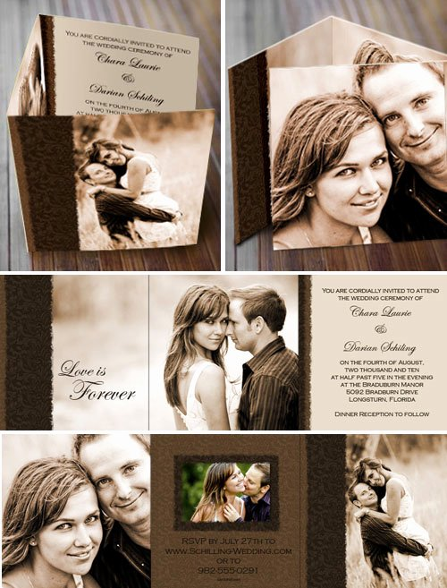 Tri Fold Wedding Invitations Awesome Wedding Invitations Invites by Card Chef
