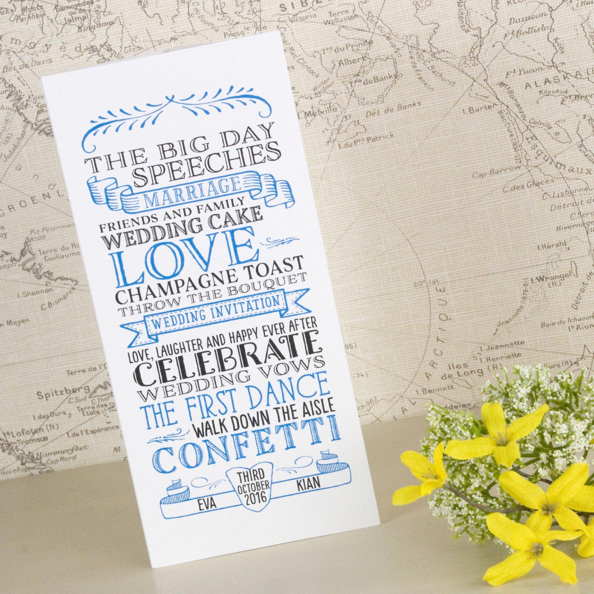 Tri Fold Wedding Invitations Best Of Vintage Tri Fold Wedding Invitation – Love Wedding Print