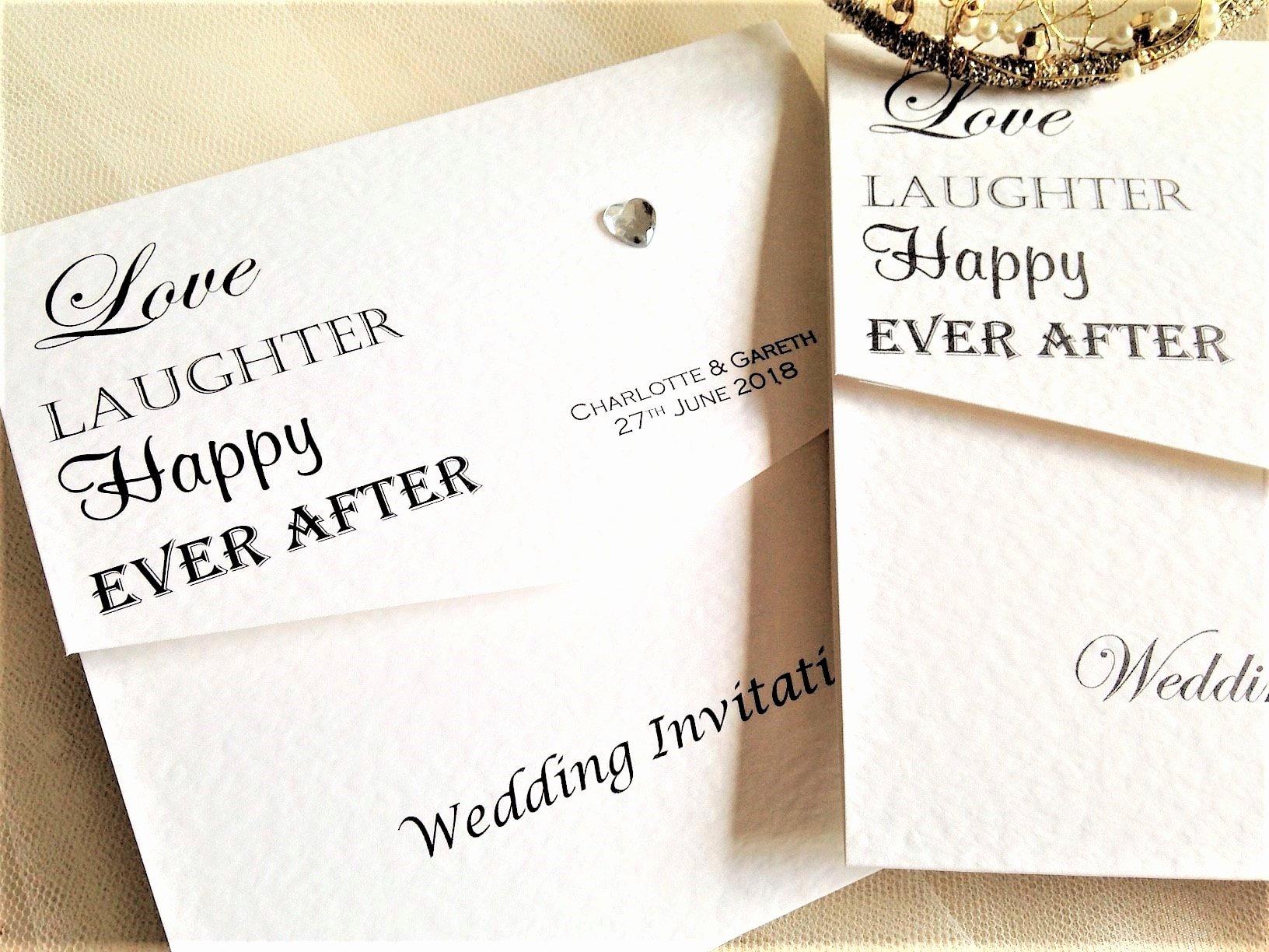 Tri Fold Wedding Invitations Elegant Love Laughter Tri Fold Wedding Invitations £1 50