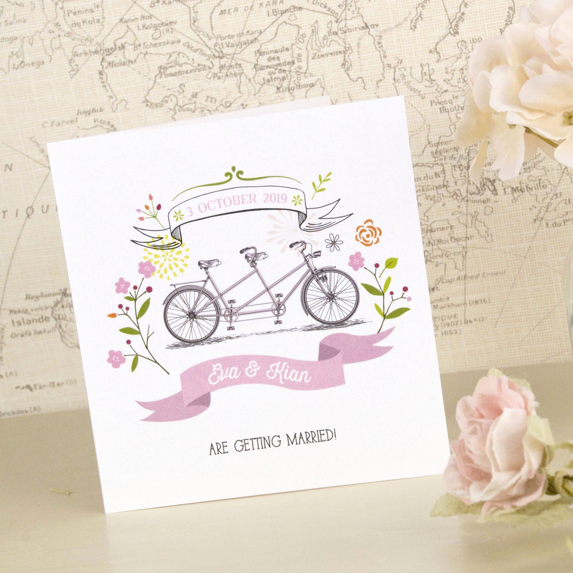 Tri Fold Wedding Invitations New Love the Bicycle Tri Fold Wedding Invitation – Love Wedding Print