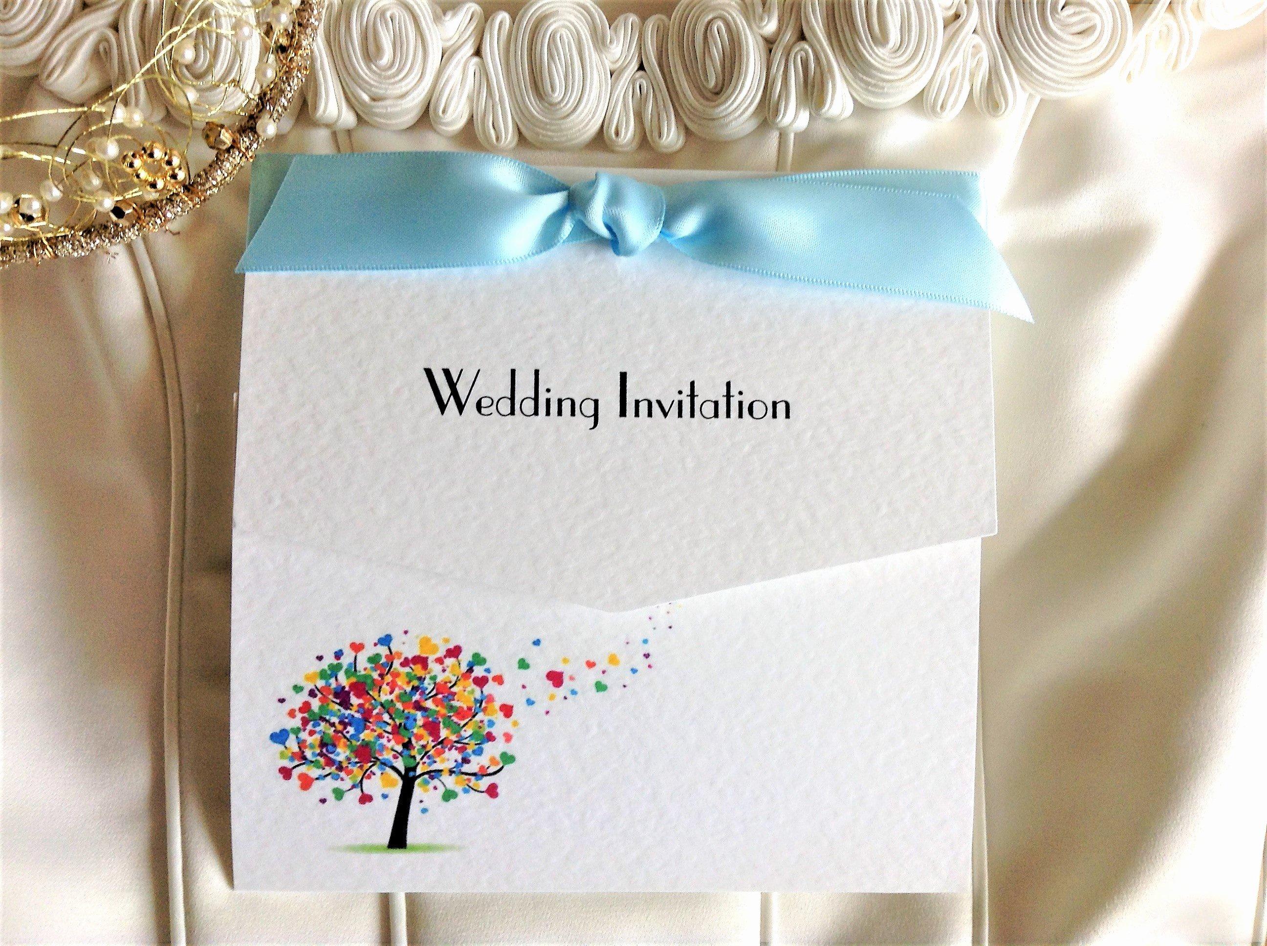 Tri Fold Wedding Invitations New Love Tree Tri Fold Wedding Invitations