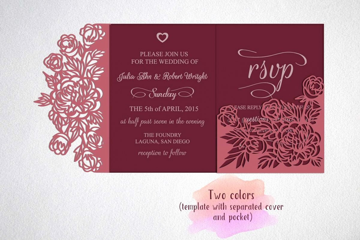 Tri Fold Wedding Invite Template Elegant Tri Fold Wedding Invitation Template Sv