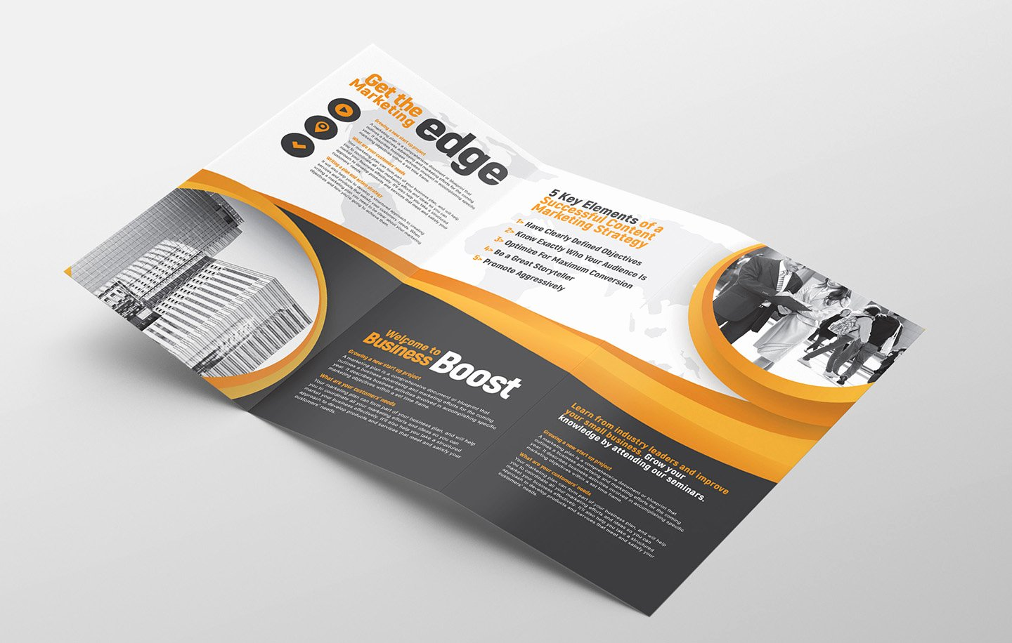 Trifold Brochure Template Illustrator Awesome Marketing Seminar Tri Fold Brochure Template Psd Ai & Vector