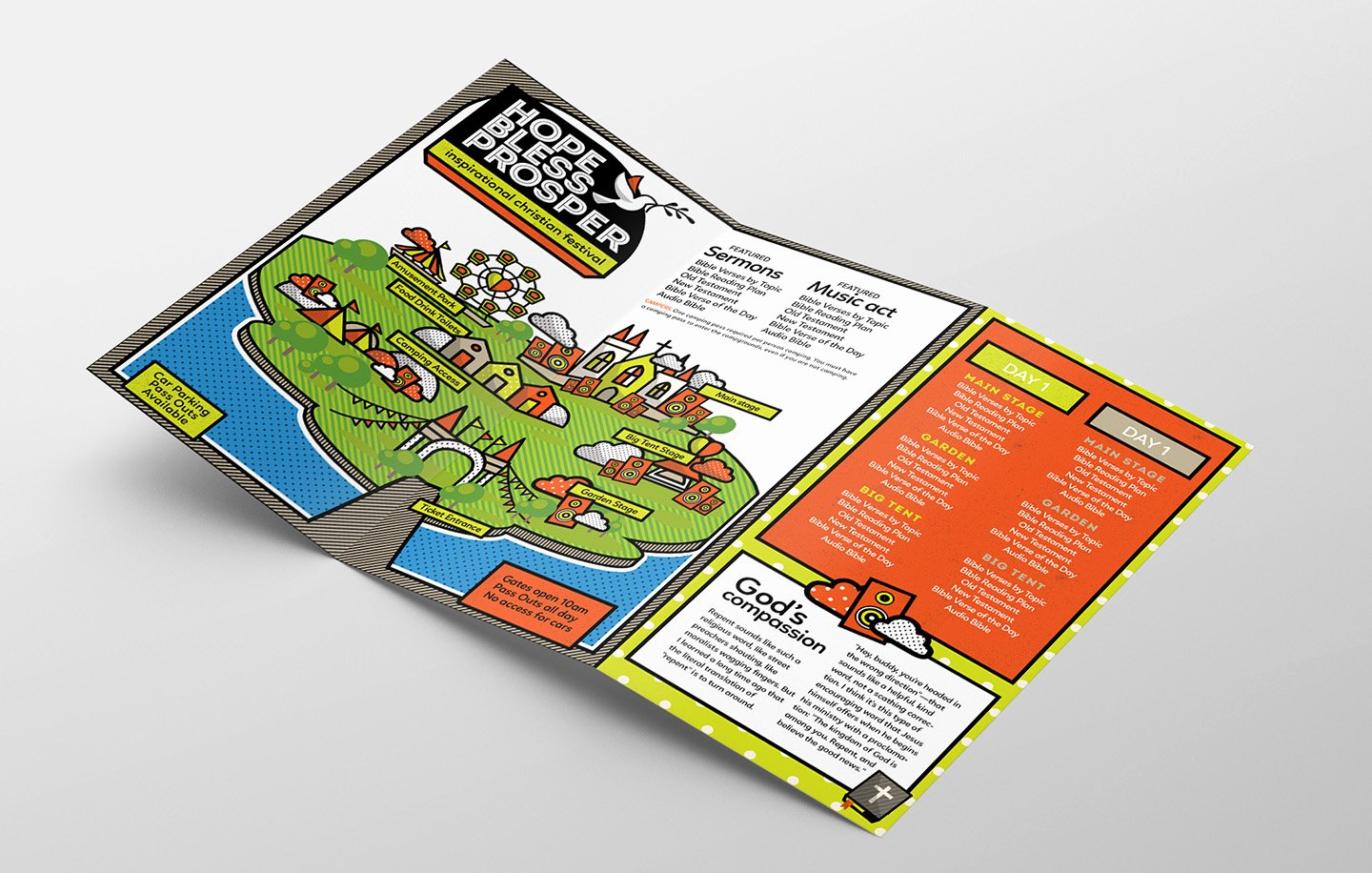 Trifold Brochure Template Illustrator Beautiful Christian Festival Tri Fold Brochure Template In Psd Ai & Vector Brandpacks