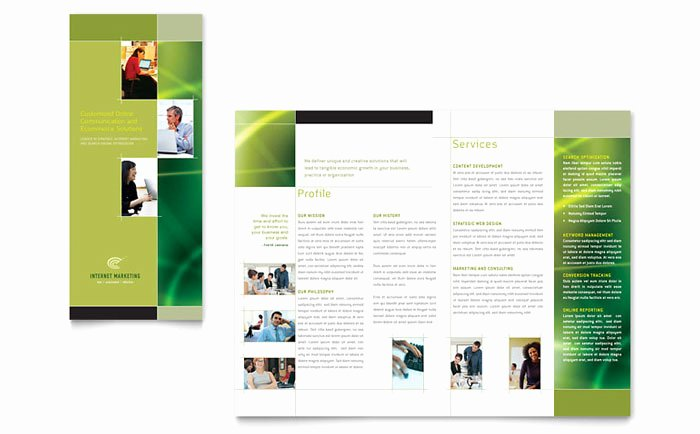 Trifold Brochure Template Illustrator Beautiful Internet Marketing Tri Fold Brochure Template Design