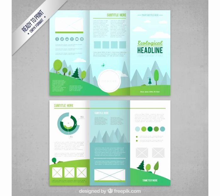 Trifold Brochure Template Illustrator Inspirational Tri Fold Brochure Template 20 Free Easy to Customize Designs