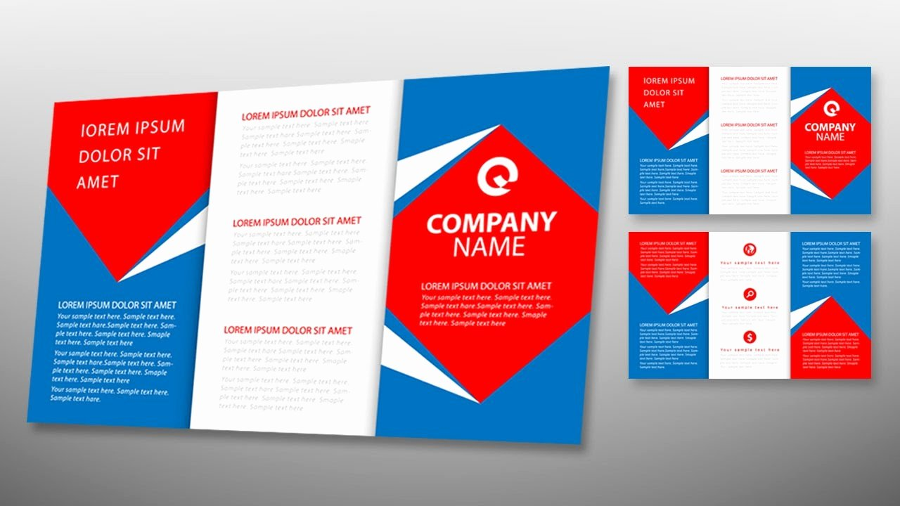 Trifold Brochure Template Illustrator Lovely Illustrator Tutorial Tri Fold Brochure Design Template