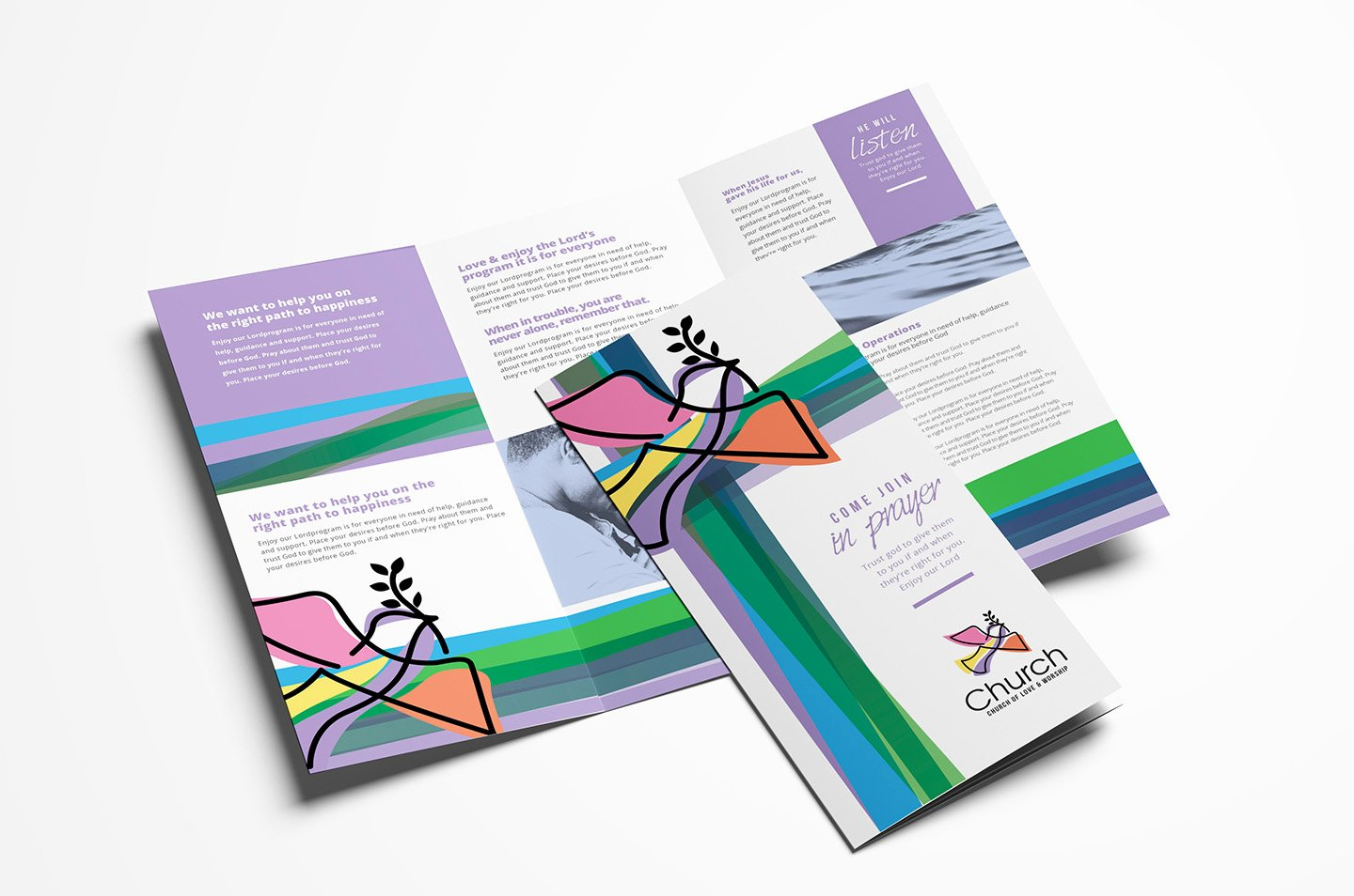 Trifold Brochure Template Illustrator Lovely Modern Church Trifold Brochure Template In Psd Ai & Vector Brandpacks