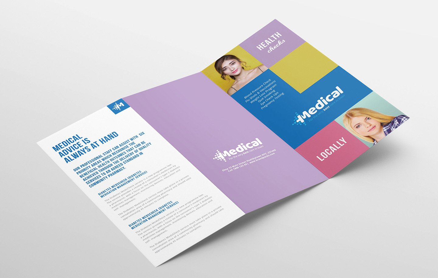 Trifold Brochure Template Illustrator Lovely Modern Medical Tri Fold Brochure Template In Psd Ai & Vector Brandpacks