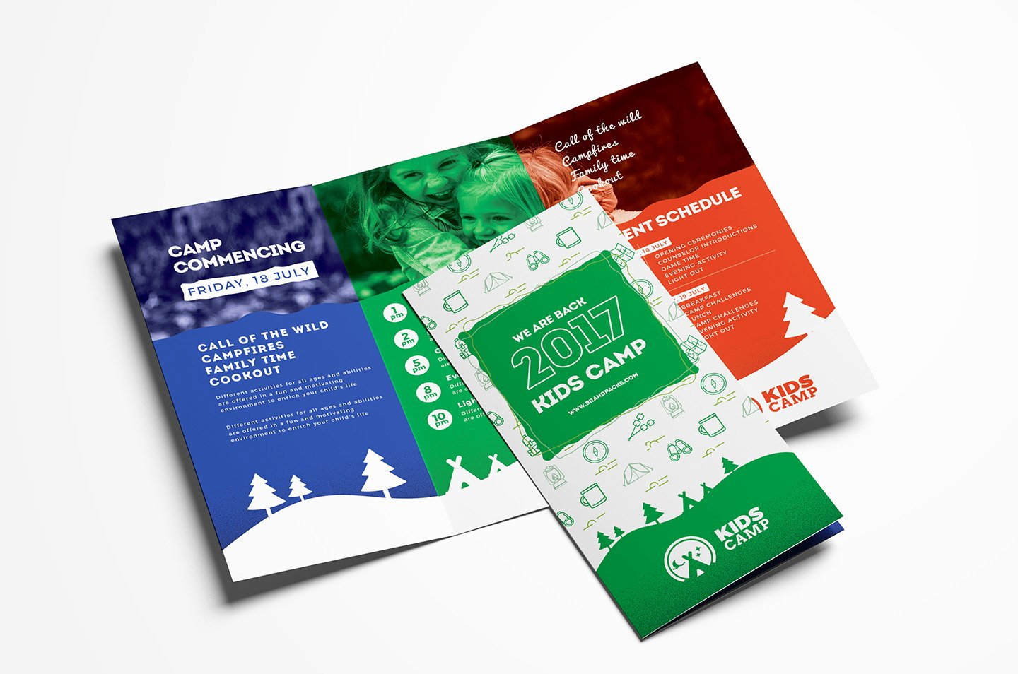 Trifold Brochure Template Illustrator Luxury Kids Camp Trifold Brochure Template In Psd Ai & Vector Brandpacks