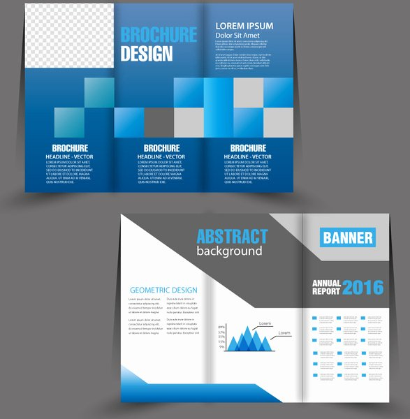 Trifold Brochure Template Illustrator New Brochure Trifold Template Design with Modern Bright Style Free Vector In Adobe Illustrator Ai