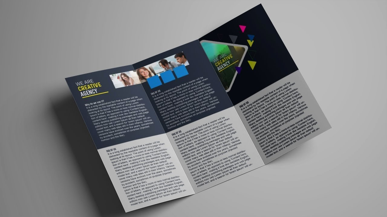 Trifold Brochure Template Photoshop Awesome How to Design A Tri Fold Brochure Template Shop Tutorial