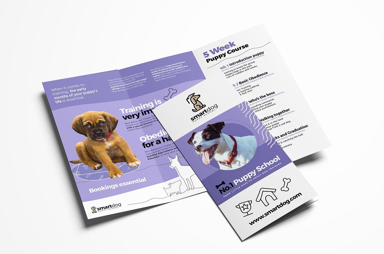 Trifold Brochure Template Photoshop Beautiful Puppy School Tri Fold Brochure Template In Psd Ai & Vector Brandpacks