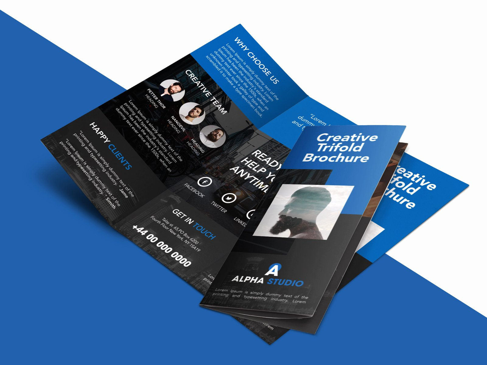 Trifold Brochure Template Photoshop Elegant Creative Agency Trifold Brochure Free Psd Template